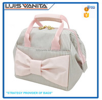 Hand Makeup Bag,Stripe Cosmetic Bag, Fashion Beauty Case