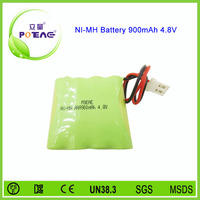 rechargeable aaa 900mah 4.8v battery pack type nimh
