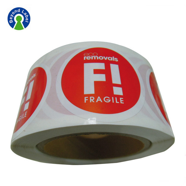 Cheap Paper Sticker Printing Adhesive Fragile Warning sticker Labels
