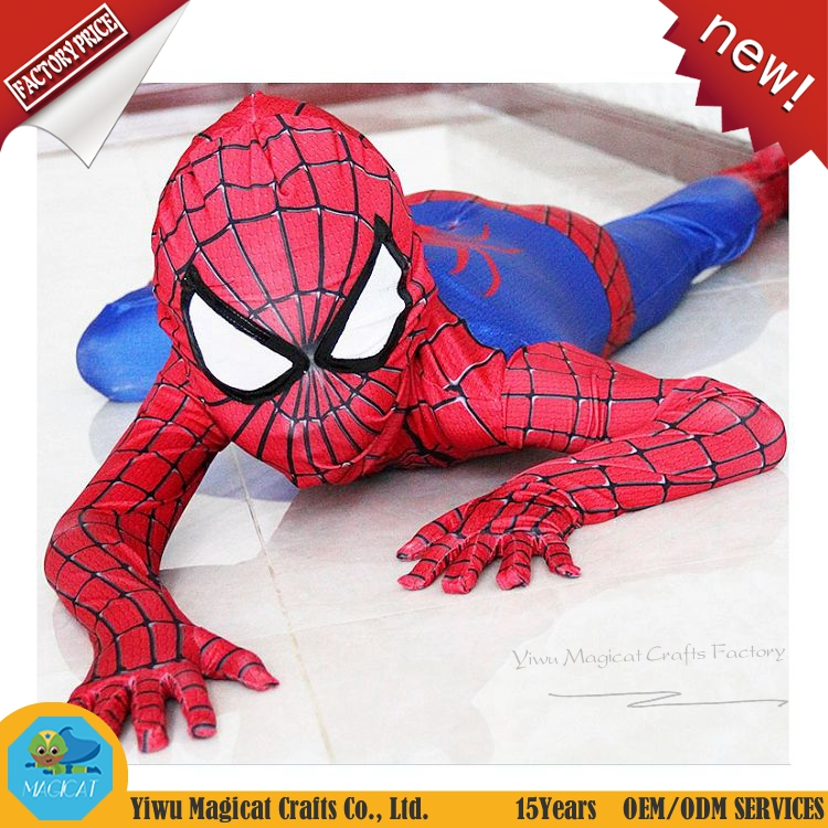 Kids cool spiderman costume with high quality kids cosplay costume