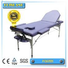 Luxury portable aluminum sex massage table/bed spa furniture