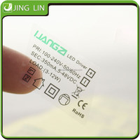 logo print transparent sticker,transparent plastic sticker sheet for electronic product