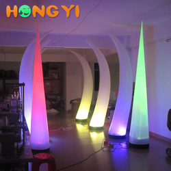 Custom Inflatable LED Ivory Light tusk balloon for active party decoration