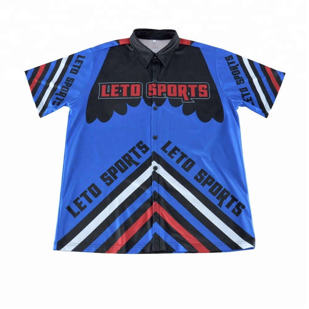 bespoke motocross 2 button racing pit shirt
