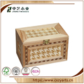 BSCI &FSC handmade natural unfinished wood craft hinged box