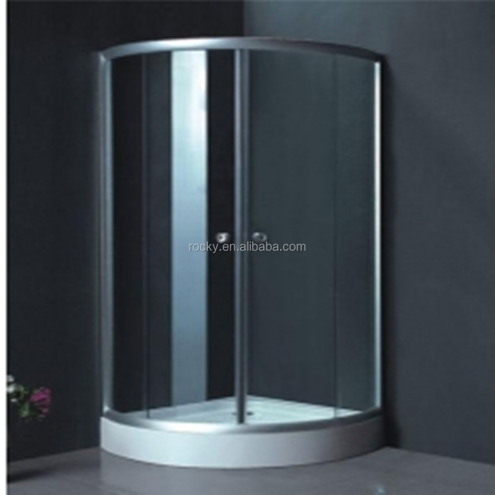 4-19mm high quality glass shower wall Tempered curved shower glass