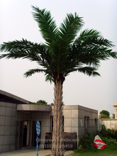 Factory direct fake outdoor decor date palm, decorative artificial palm trees with fiber composite