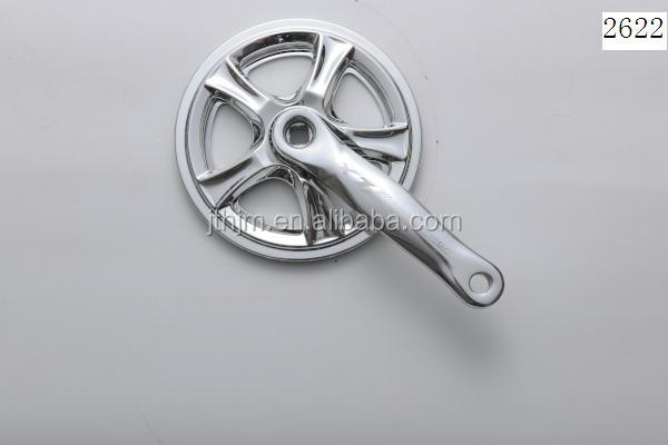 A104P steel single speed bicycle chainwheel and crank with alloy 152mm crank