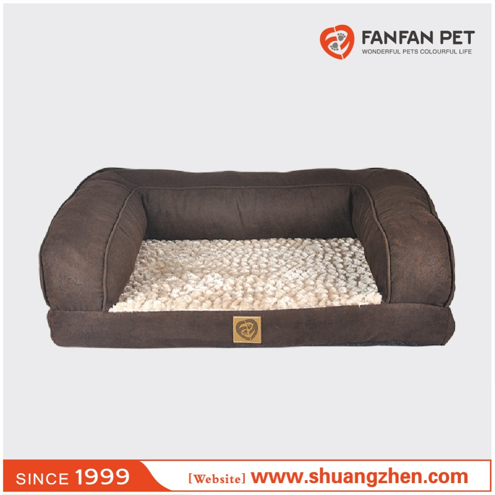 Luxury rectangular deep seated bolster plush sleeper
