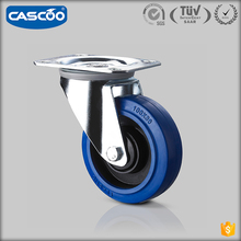 CASCOO swivel castor flightcase rubber blue wheels 4, flight case parts