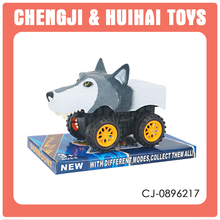 Friction power anmal shape car plastic wolf toys