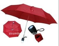 folding LED umbrella with light on handle