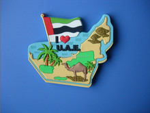 2016 new custom 3d pvc refrigerator with uae map shaped use for uae national day gifts fridge magne sticker promotion