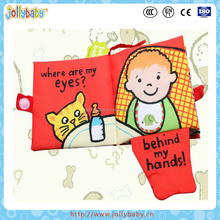 Australian Brand Jollybaby Kids Favourite And Educational Sound Baby Toys Cloth Soft Book