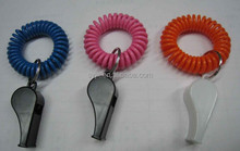 Diameter Stretchy coil bracelet with whistle for games and sport events, for life guard and alarm in