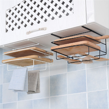 Hot sale Iron hanging chopping board kitchen tools holder cutlery rack