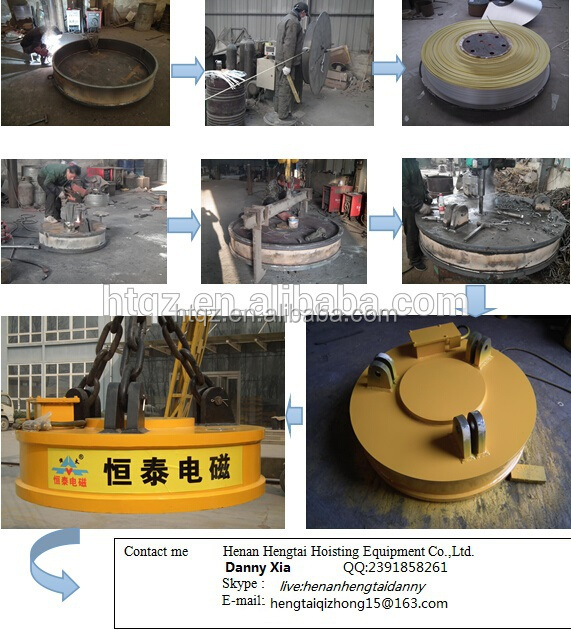 Lifting equipment powerful scrap lift magnet for excavator for sale