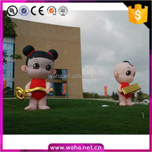 Outdoor Advertising giant inflatable boy and girl cartoon