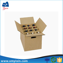 Dimension of bottle carton wine shipping box