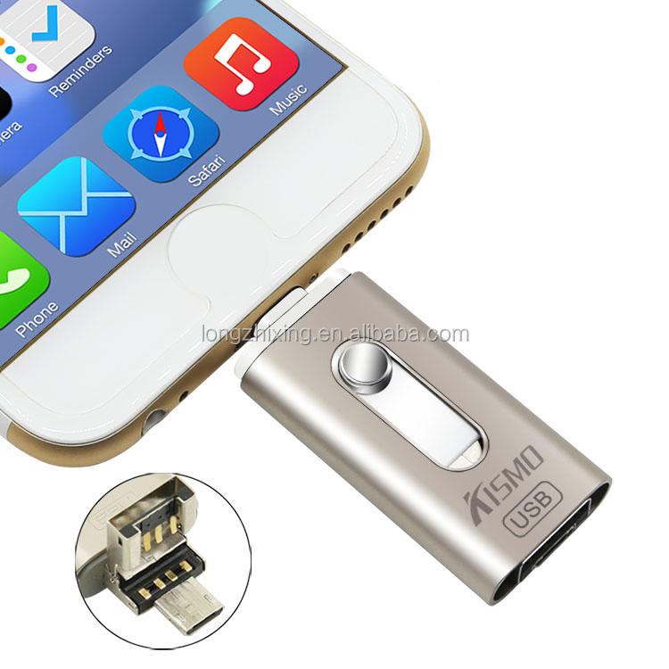 New products 2016 iflash drive mobile phone custom otg usb flash drive for iphone 5 6 6s 7 7plus IOS 9