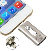 New products 2016 iflash drive mobile phone custom otg usb flash drive for iphone 5 6 6s plus IOS 9