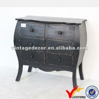 console black wooden cabinet with drawers