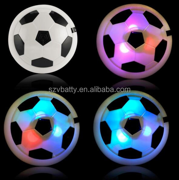 Hot selling electric air power indoor kids soft glide hover soccer ball toy with light as seen on tv