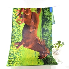 Wholesale customized soft quick drying printed towel beach 100% organic microfiber