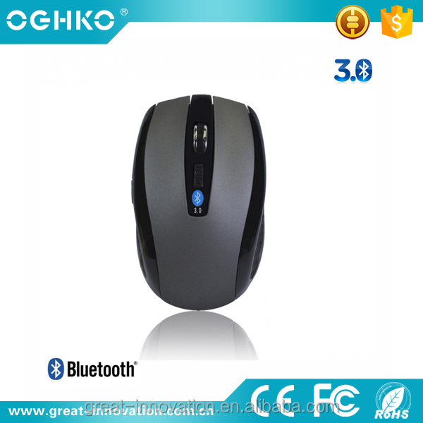 2016 new design bluetooth3.0 rechargeable 2.4g wireless computer mouse