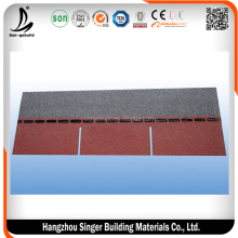 SGB Brand Red 3-tab asphalt shingle/single layer asphalt roofing shingle