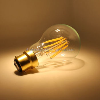 Hot sales 3.5w 5W 6.5W Dimmable Glass cover B22 led filament lamp