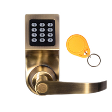 Safety keypad digital card door lock with password