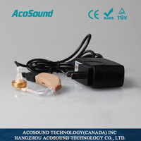 China AcoSound AcoMate Recharger CE TUV ISO Proved Cheap rechargeable hearing aid