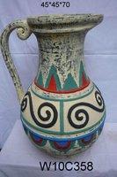 antique terra cotta vase