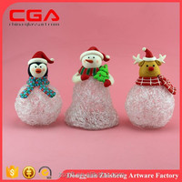 Fancy Christmas decoeration polyresin snowflake snowman deer