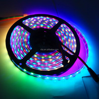 4M DC5V APA-102C addressable led pixel strip;60leds/m with 60pixels/m;BLACK PCB;waterproof in silicon tube
