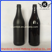 Wholesale China supplier 500ml crown brown empty beer bottles