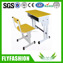 Student standard Desks chairs series Strong single seats used student desks with chair