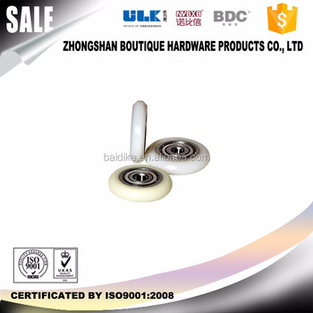 High precision roundnes abs roller for sliding wardrobe door roller
