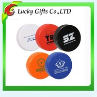 Top Quality Logo Printed Silicone Rubber Ice PU Hockey Puck