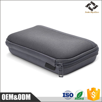 OEM manufacture custom size EVA carrying case hard disk HDD case With Durable Nylon Coated