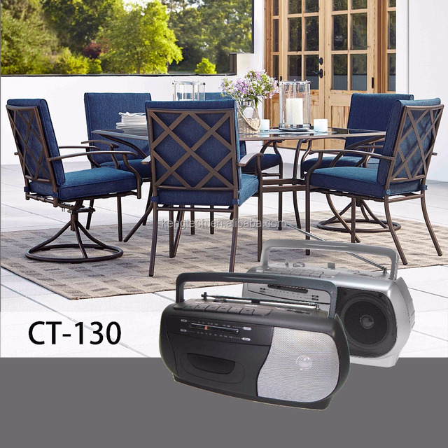 Classical AM FM Analogue Cassette Recorder Portable Radio manufacturer price CT-130