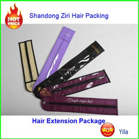 clear hair extension packaging 100 pieces/supple body wave virgin hair/packaging hair extension