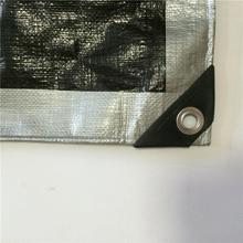 High quality Chinese factory heat insulation silver black poly tarp