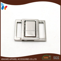 shiny silver plating metal alloy bra buckle / underclothes buckle