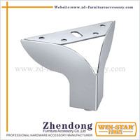 Special Unique Shape Modern Design Chrome Steel Furniture sofa Leg made in China ZD-D012-A