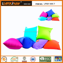 Wholesale square pillow candy color office pillow soft throw pillow