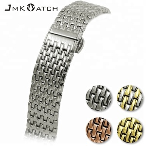 20-22 mm nine solid beads stainless steel wrist watch band extenders