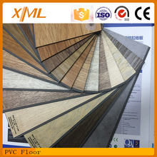 water proof wood finished vinyl tile/ PVC floor with 2.0/2.5/3.0/4.0mm thickness