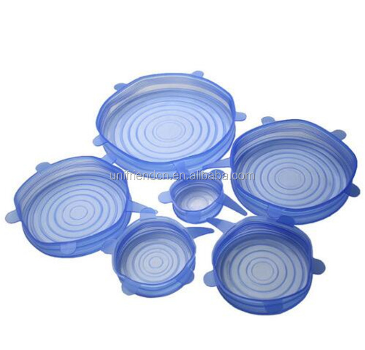 Flexible Silicone Stretch Bowl Cover Lid /Reusable Silicone Keep Fresh Covers